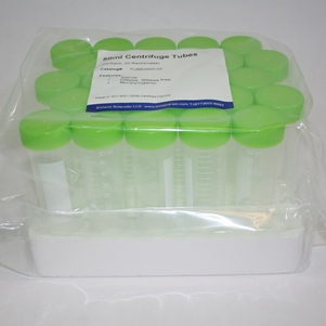 50 ml conical tubes (sterile, with rack, 500/case, Green Caps)