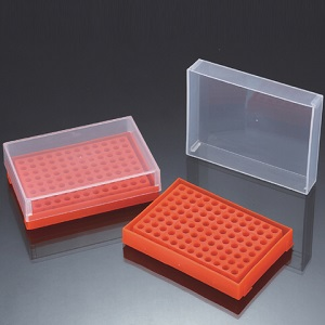 PCR Tube Rack, 96 wells, 1 Lid/Rack (5/pk)